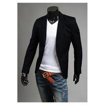 Saco Blazer Hombre Juvenil Slim Fit Elegante Moda Japonesa