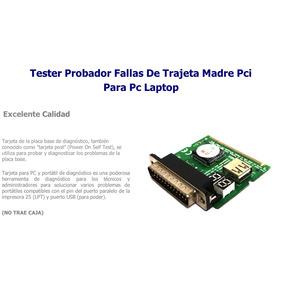 Tester De Fallas Tarjeta Madre Pc Laptop Usb Pci Paralelo