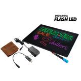 Pizarra Con Luz, Color De Luces Cambiant,led Flashing Board,