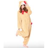 Disfraces Genuina Kigurumi Sanrio Hello Kitty Beige Oso De
