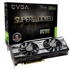 Evga Geforce Gtx 1070 Sc Gaming Acx 3.0 Negro Edition, 8 Gb