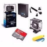Camera Go Pro Hero 5 Black 64gb+ Bateria+2 Bastao +estanque