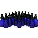 24, Azul Cobalto, 15 Ml (1/2 Oz) Botellas De Vidrio, Con Cu