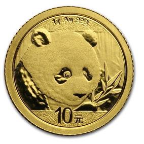 Moneda 1 Gramo Oro .999 Panda China 2018 Sellada