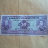 Billete Antiguos Bs 10, 1992 Seriar L-84539018 Excelente .