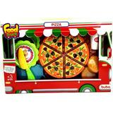 Comidinhas De Brinquedo Pizza Para Cortar Crec Crec