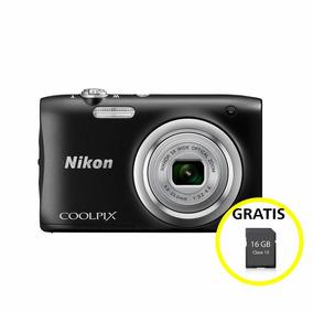Cámara Nikon Coolpix A100 Negra Ultra Compacta