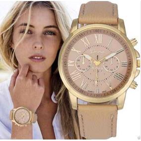Relógio Bonito Dourado De Pulso Bracelete Lindo