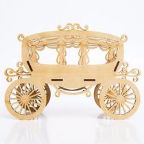 Carruagem Princesas - Cachepô Em Mdf Enfeite De Mesa