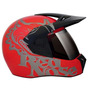 Capacete 3 Sport Red Nose Red + Viseira Fume