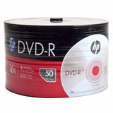 Dvd-r Hp 4.7gb 120min 16x Paquete 50 Unidades Zonalaptop