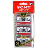 Fita Microcassete Sony Micro Cassete K-7- Cartela Com 03 Un.