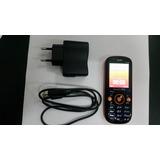 Celular Navcity Np325 Dual Chip Preto E Laranja