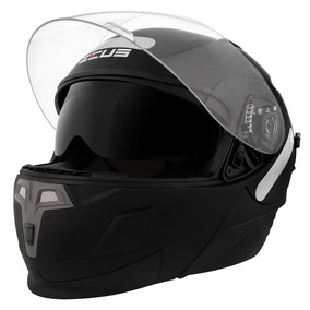 Capacete Zeus Articulado Helmets 3020 Matt Black Preto Fosco