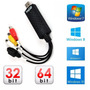 Placa De Captura Vídeo Easy Cap Windows 7 8 10 Notebook Pc