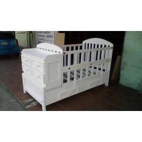 Cama Cuna Corral Multifuncional Blanca Con Gavetas O Duplex