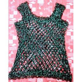Musculosa/chaleco Tejido Crochet - Artesanal - T. 48