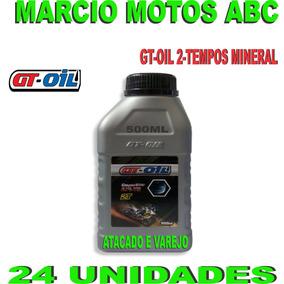 Caixa 24 Unidades Oleo 2 Tempos Gt Oil 500ml Mineral