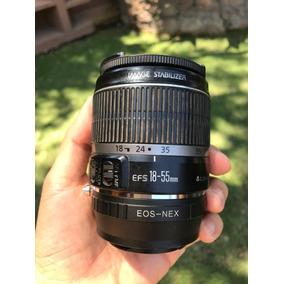 Lente Canon 18-55 Con Adaptador Para Camaras Sony Montura E