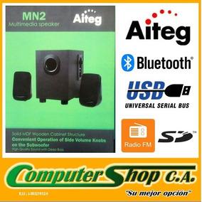 Cornetas 2.1 / Aiteg Mn2 / Subwoofer / Bluetooth / Usb / Sd