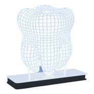 Abajour Decorativo 3d Led Modelo Dente 1 Unidade