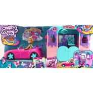 Playset Com Veìculo E Boneca - Sparkle Girlz - Beauty Salon
