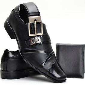 Sapato Social Masculino Em Couro Kit Exclusivo Dhl Calçados