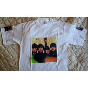 The Beatles Remera Estampada Pecho Y Brazo Hering Imp Brasil