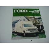 Folder Ford Furgao F-350 Chassis Van Econoline 80 1980 V8