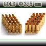 Par Conector Banana Gold Bullet 3,5 Mm - Frete 8,00