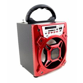 Caixa De Som Portátil Amplificada Usb Mp3 Radio Fm Cart 5w