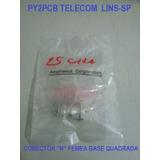 Conector N Femea Amphenol Base Quadrada Pequena Py2pcb