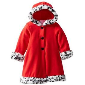 Abrigo Rojo Con Capucha Y Piel Talla 9m A 3 Años