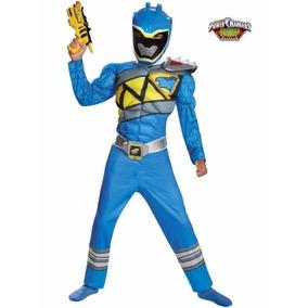 Disfraz Power Ranger Dino Charge Azul Talla 4/6 Entrega Inme