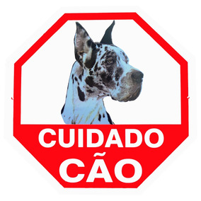 Placa Advertência Dog Alemão. Fixação Obrigatória Por Lei