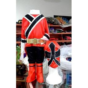 Disfraz Traje Power Ranger Samurai Talle 6