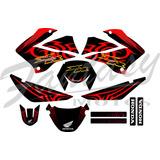 Calcos Honda Xr 125 - Honda Bross Kit Completo Tribal
