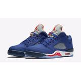 Nike Air Jordan 5 V Blue And Orange