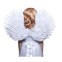 Fashionwings (tm) De Los Niños De La Pluma Blanca De Alas D