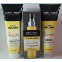 Kit John Frieda Go Blonder (shampoo+cond +spray Clareador)