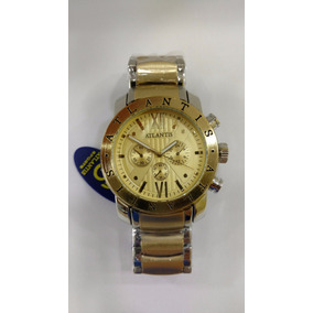 Relógio Original Atlantis Dourado Luxo Modelo Bulgari Fret G