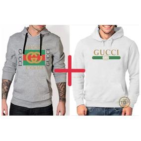 Kit 2 Blusas Moletom Gucci Moleton De Frio Unissex 003bedd387b
