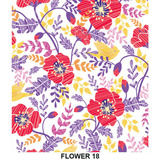 Papel Parede Adesivo Contact Flores Flower - 45cm X 10mt