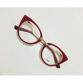 Armacao De Oculos Fendi Nude Grau Outras Marcas - Óculos Vermelho no ... f90ee1652a