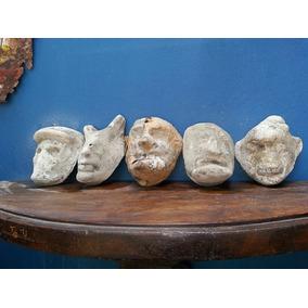 Colección De Moldes. Hechos De Cemento. Para Máscaras