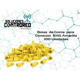Bolsa De Botas P/ Conectores Rj45 100 Unid (color Amarillo )