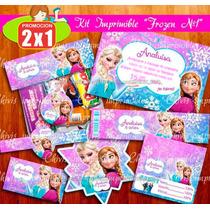 Kit Imprimible Frozen Fiesta Bolo Piñata Invitaciones Dulce