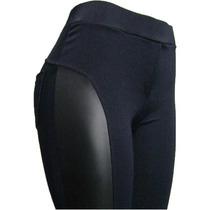 Calça Legging Montaria Gorgurino Com Detalhe Couro Ecologico