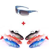 Kit Pesca Óculos Solar + 6 Iscas Shad 5,5cm 8gramas Promoção