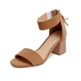 Tacón Zapatillas Plataforma Sandalias Mujer Moda Café 3801